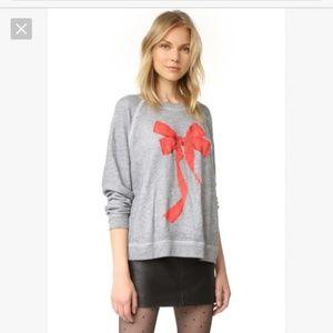Wildfox I'm The Present Bow Pullover Sweatshirt